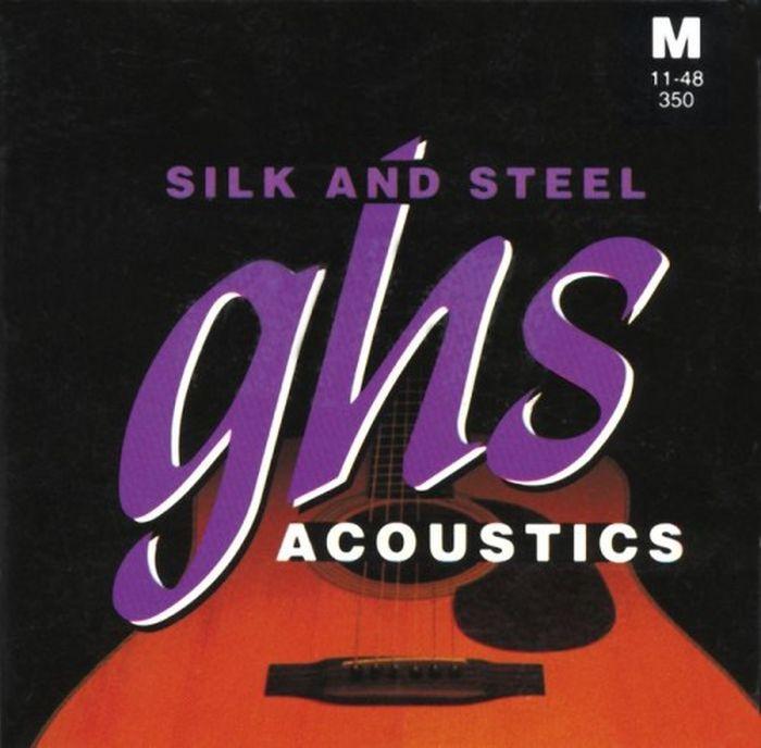 GHS DNT-24758 cтруны для акустической гитарыDNT-24758GHS 350 - (011-48) посеребренные; Silk & Steel