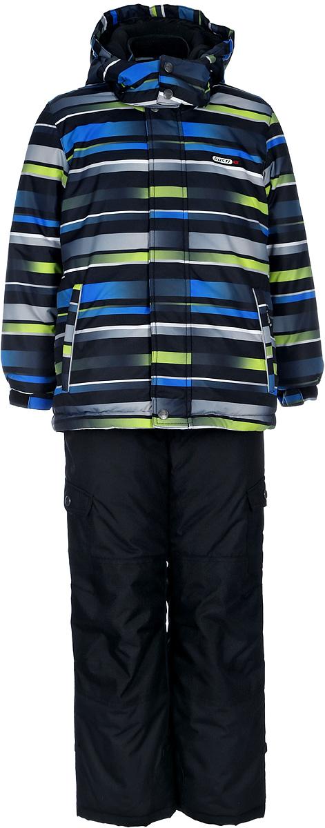 Комплект верхней одежды для мальчика Gusti, цвет: черный. GWB 3309-BLACK. Размер 123GWB 3309-BLACKКомплект Gusti состоит из куртки и полукомбинезона. Ткань верха: мембрана с коэффициентом водонепроницаемости 5000 мм и коэффициентом паропроницаемости 5000 г/м2, одежда ветронепродуваемая. Благодаря тонкому полиуретановому напылению изнутри не промокает даже при сильной влаге, но при этом дышит (защита от влаги не препятствует циркуляции воздуха). Плотность ткани Т190 обеспечивает высокую износостойкость. Утеплитель: тек-Полифилл (Tech-Polyfil) - 280г/м2, силиконизированый полиэстер изготовленный по новейшим технологиям, удерживает тепло при температуре до -30 С. Очень мягкий, создающий объем для сохранения тепла. Высокоэффективный, обладающий повышенной устойчивостью к сжатию (после стирки в стиральной машине изделие достаточно встряхнуть), обеспечивающий хорошую вентиляцию, обладающий прекрасным, теплоизолирующими свойствами синтетический материал. Главные преимущества Тек-Полифила – одежда более пушистая на ощупь и менее тяжелое по весу. Подкладка: высокотехнологичный флис COOLQUICK. Специальное кручение нитей позволяет ткани максимально впитывать влагу и увеличивать испаряемость с поверхности, т.е. выпустить пар, но не пропускает влагу снаружи, что обеспечивает комфорт даже при высоких физических нагрузках. Этот материал ранее был разработан специально для спортсменов, которые испытывали сильные нагрузки во время активного движения, а теперь принес комфорт и тепло в нашу повседневную жизнь. Это особенно важно для детей, когда они гуляют на свежем воздухе, чтобы тело всегда оставалось сухим и теплым. В этой одежде им будет тепло в течение длительного времени и нет необходимости надевать теплый свитер. Верхняя одежда GUSTI просто чистится. Стирать одежду придется очень редко – только при сильных загрязнениях. Если малыш забрался в лужу или грязь, просто вытрите пятно влажной тряпкой.