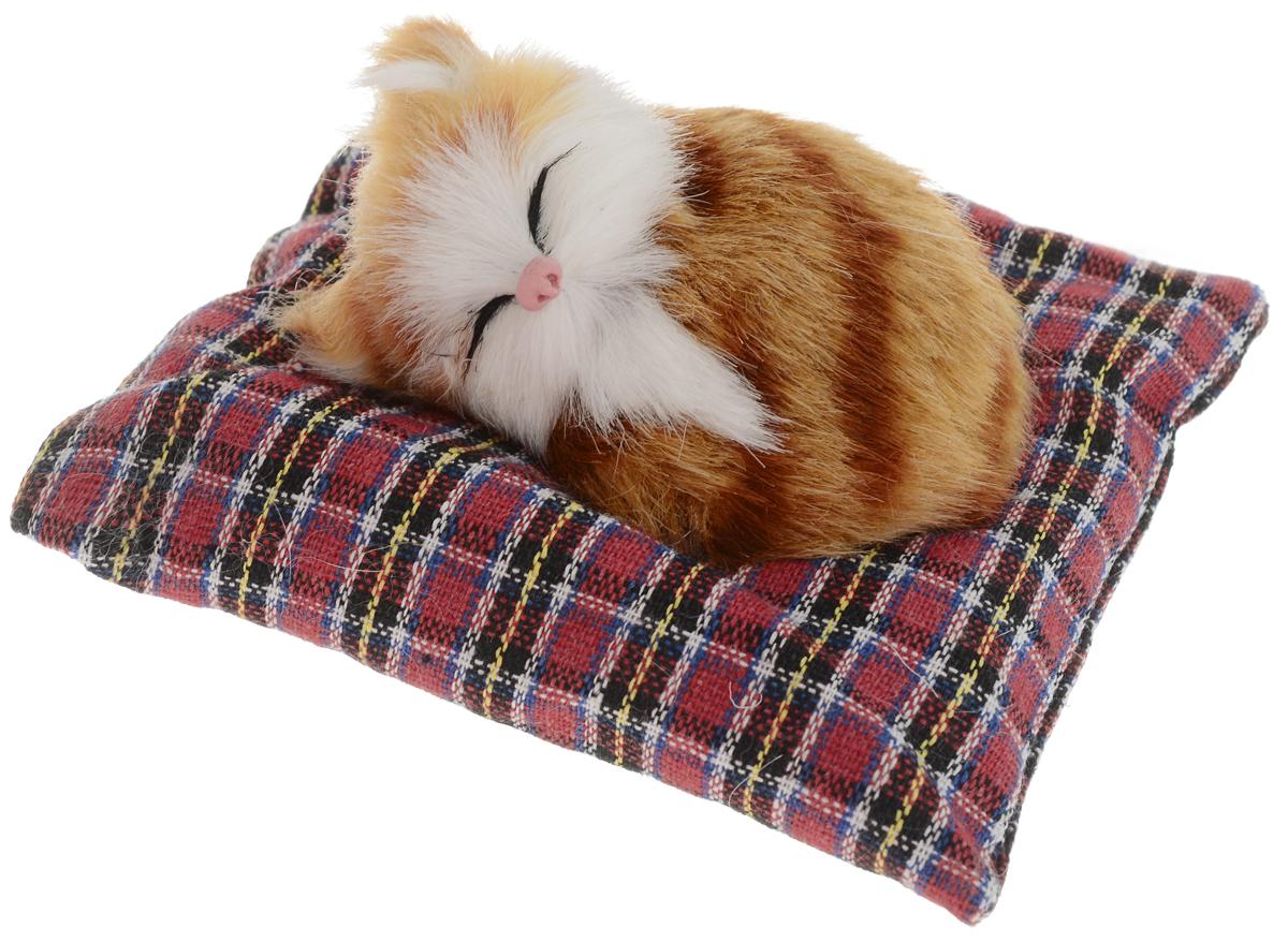 Vebtoy Фигурка Лежащий котенок на коврике цвет рыжий С402 цена 2017