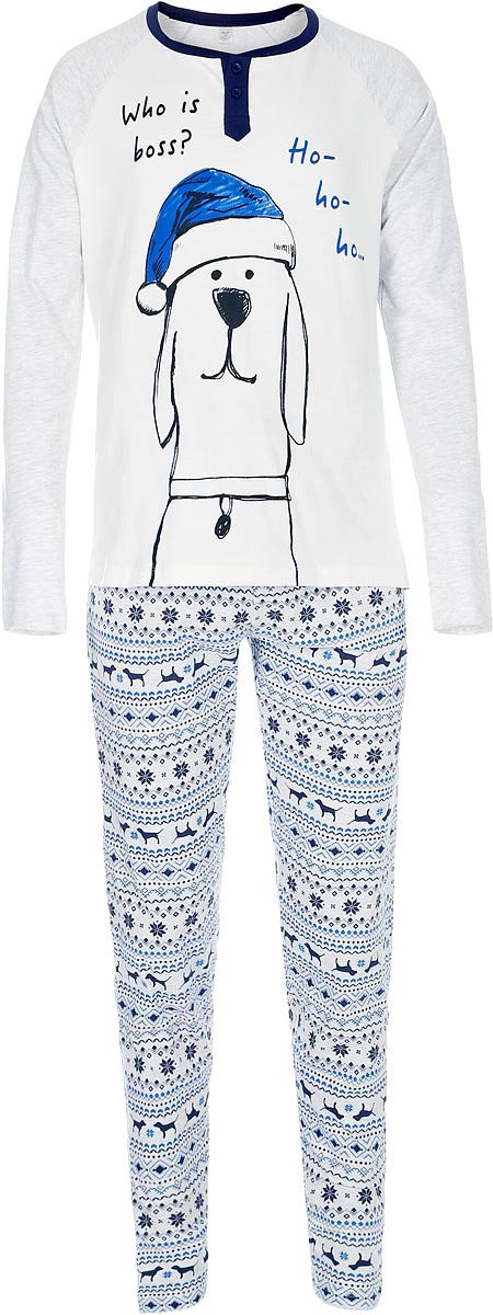 Пижама для мальчика Sela, цвет: молочный. PYb-7862/029-7403. Размер 128/134 7862 elefantino