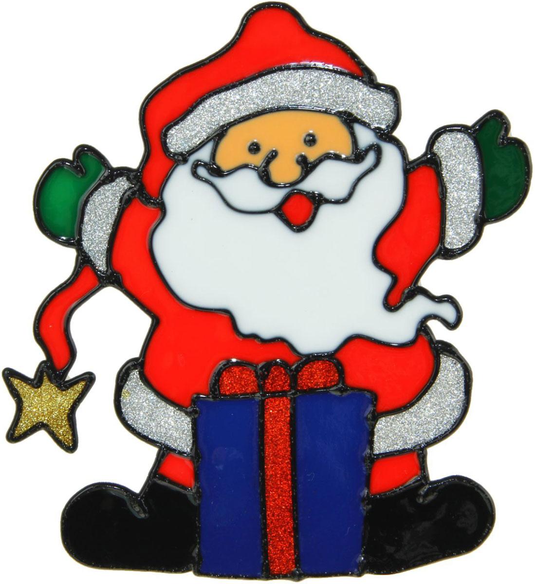 Украшение новогоднее оконное NoName Дед Мороз в длинном колпаке с подарком, 13 х 15,5 см1399691Новогоднее оконное украшение NoName Дед Мороз в длинном колпаке с подарком поможет украсить дом к предстоящим праздникам. Яркая наклейка крепится к гладкой поверхности стекла посредством статического эффекта. С помощью такого украшения вы сможете оживить интерьер по своему вкусу.Новогодние украшения всегда несут в себе волшебство и красоту праздника. Создайте в своем доме атмосферу тепла, веселья и радости, украшая его всей семьей.