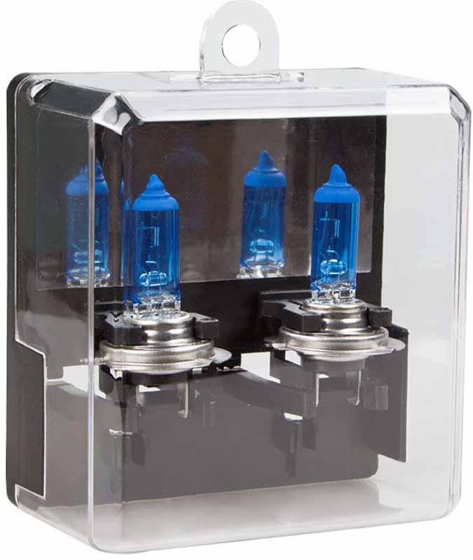 Лампа автомобильная галогенная Kraft Pro Xenon, H7, 12V, 55W (PX26d), 2 штКТ 700209Лампы серии Kraft Pro Xenon созданы в первую очередь для водителей, желающих выделиться в потоке автомашин. Специальное интерференционное покрытие обеспечивает температуру свечения близкую к «холодному» белому цвету, снижая утомляемость глаз и создавая эффект света ксеноновой лампы.