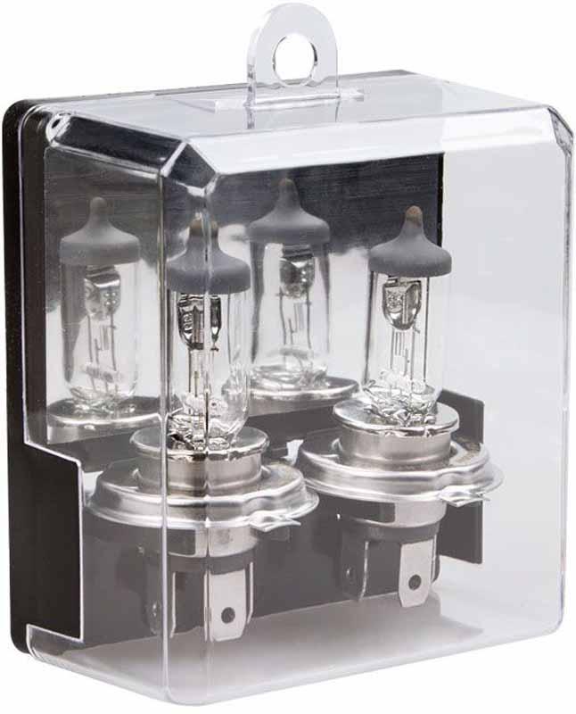 Лампа автомобильная галогенная Kraft Pro Long Life, H4, 12V, 55W (P43t), 2 штКТ 700213Уникальная технология производства, а также особая концентрация газа внутри колбы лампы, в состав которого входят инертные газы, обеспечивают срок службы, превышающий стандартный почти в 2 раза.