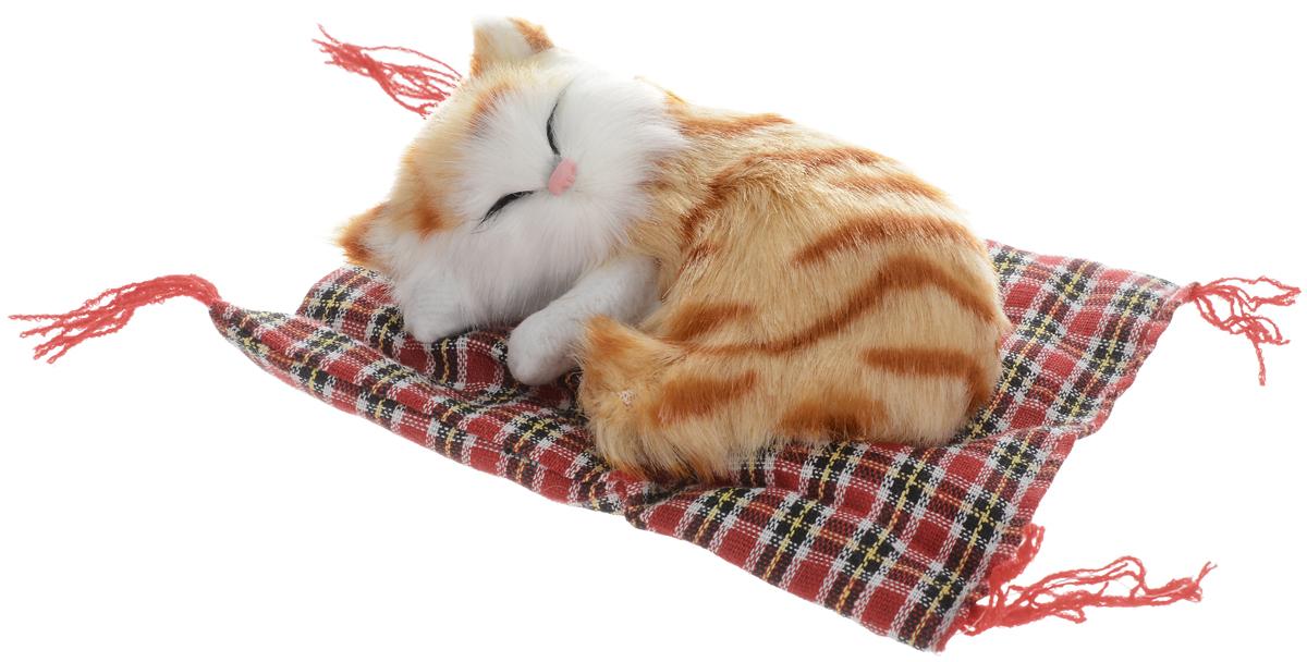 Vebtoy Фигурка Котенок на коврике цвет рыжий С391