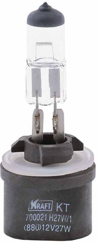 Лампа автомобильная галогенная Kraft Basic, H27W/1 (880), 12V, 27W набор автомобильных ламп kraft basic 12leds 25x40 mm