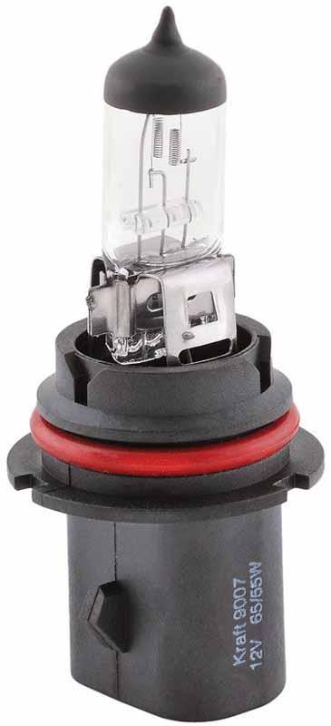 Лампа автомобильная галогенная Kraft Basic, HB5, 12V, 65/55W (PX29t)КТ 700026Автомобильные галогенные лампы серии Kraft Basic предназначены для применения в любых погодных условиях, обеспечивая комфорт и безопасность вождения, а специальное стекло колбы ламп, поглощающее большую часть ультрафиолетовых лучей, обеспечивает полную безвредность для пластиковых частей фар. Лампы соответствуют всем предъявляемым требованиям технического регламента, правила №37 ЕЭК