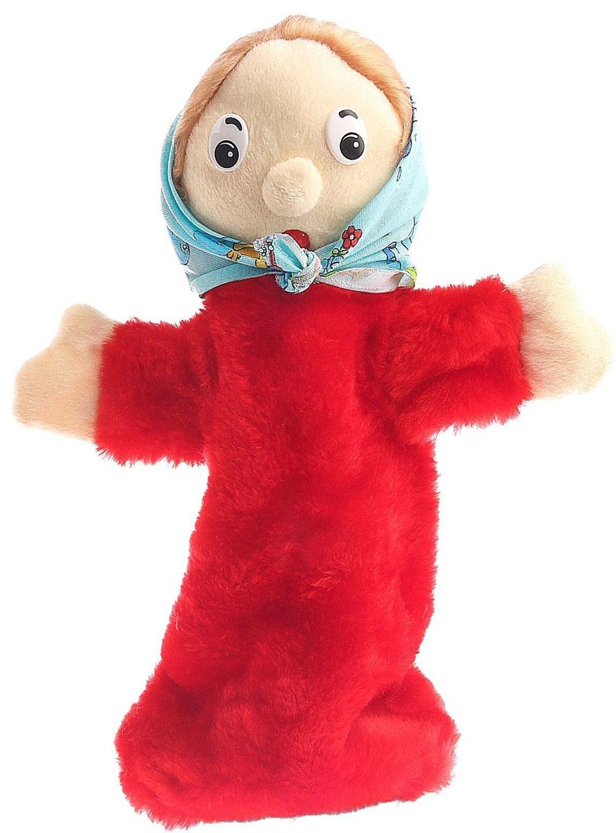 Радомир Мягкая игрушка на руку Бабка Би-ба-бо цвет красный 36 см радомир мягкая игрушка собака соня 55 см 2008906