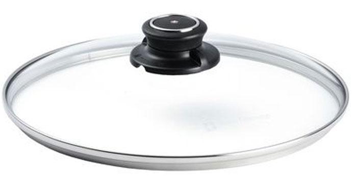 Крышка стеклянная Swiss Diamond. Диаметр 24 см. C 24SDC 24SDКрышка Swiss Diamond изготовлена из жаростойкого стекла с металлическим ободком. Она снабжена удобнойручкой из жаропрочного пластика. Крышку можно использовать в духовке при температуре до 260°С.Крышка представлена для модельного ряда посуды. Крышку Swiss Diamond можно мыть в посудомоечной машине.