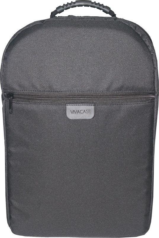 Vivacase Business VCN-BBS15-bl, Black рюкзак для ноутбука 15,6VCN-BBS15-blРюкзак для ноутбука Vivacase Business VCN-BBS15-bl c диагональю 15.6 специально создан для большого города. Вместительный и легкий он сшит уникального водонепроницаемого материал, устойчивого к различным загрязнениями, осадкам и выцветанию. В любую погоду и ваш рюкзак будет смотреться отлично!Строгий и лаконичный дизайн рюкзака разработан таким образом, чтобы равномерно распределять нагрузку на спину и плечи. Длина ремней регулируется по фигуре. В лямки вшит специальный мягкий материал, что делает рюкзак особенно комфортным даже при долгом ношении.В рюкзаке предусмотрены два внутренних отделение для ноутбука 15,6 и планшета диагональю 10 дюймов и одно внешнее отделение на молнии, куда поместятся папка с документами формата А 4. Каждое отделение разграничено прокладкой из ударопрочного материала. При желании вы можете спокойно носить несколько дорогих гаджетов вместе, не боясь, что они поцарапаются друг о друга