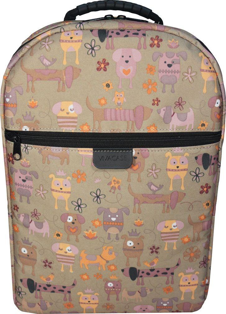 Vivacase Doggy VCN-BDG15-br, Brown рюкзак для ноутбука 15,6VCN-BDG15-brРюкзак для ноутбука c диагональю 15.6 специально создан для большого города. Вместительный и легкий он сшит уникального водонепроницаемого материал, устойчивого к различным загрязнениями, осадкам и выцветанию. В любую погоду и ваш рюкзак будет смотреться отлично!Строгий и лаконичный дизайн рюкзака разработан таким образом, чтобы равномерно распределять нагрузку на спину и плечи. Длина ремней регулируется по фигуре. В лямки вшит специальный мягкий материал, что делает рюкзак особенно комфортным даже при долгом ношении. В рюкзаке предусмотрены два внутренних отделение для ноутбука 15,6 и планшета диагональю 10 дюймов и одно внешнее отделение на молнии, куда поместятся папка с документами формата А 4. Каждое отделение разграничено прокладкой из ударопрочного материала. При желании вы можете спокойно носить несколько дорогих гаджетов вместе, не боясь, что они поцарапаются друг о друга