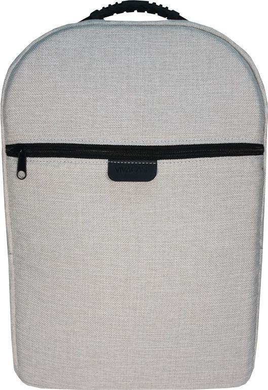 Vivacase Jacquard VCN-BGQ15-w, White рюкзак для ноутбука 15,6VCN-BGQ15-wРюкзак для ноутбука c диагональю 15.6 специально создан для большого города. Вместительный и легкий он сшит уникального водонепроницаемого материал, устойчивого к различным загрязнениями, осадкам и выцветанию. В любую погоду и ваш рюкзак будет смотреться отлично!Строгий и лаконичный дизайн рюкзака разработан таким образом, чтобы равномерно распределять нагрузку на спину и плечи. Длина ремней регулируется по фигуре. В лямки вшит специальный мягкий материал, что делает рюкзак особенно комфортным даже при долгом ношении. В рюкзаке предусмотрены два внутренних отделение для ноутбука 15,6 и планшета диагональю 10 дюймов и одно внешнее отделение на молнии, куда поместятся папка с документами формата А 4. Каждое отделение разграничено прокладкой из ударопрочного материала. При желании вы можете спокойно носить несколько дорогих гаджетов вместе, не боясь, что они поцарапаются друг о друга