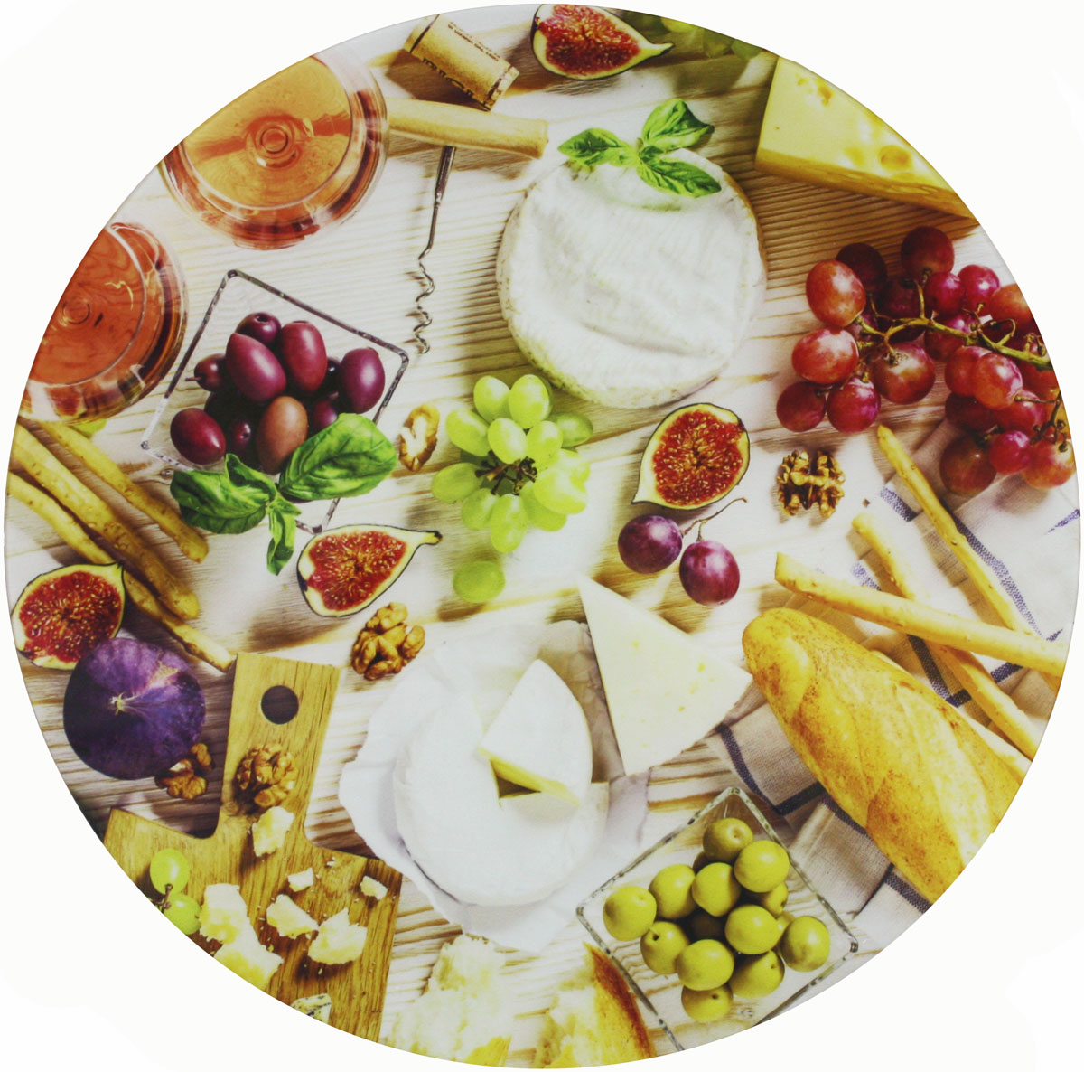 Блюдо Vellarti Сыр, вращающееся, диаметр 30 см. 21700102170010Вращающееся блюдо D 30см. Материал: стекло на вращающейся подставке в подарочной упаковке.