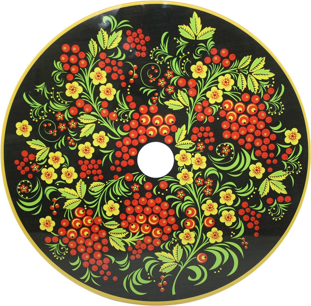 Блюдо Vellarti Хохлома , вращающееся, диаметр 30 см. 21700222170022Вращающееся блюдо D 30см. Материал: стекло на вращающейся подставке в подарочной упаковке.