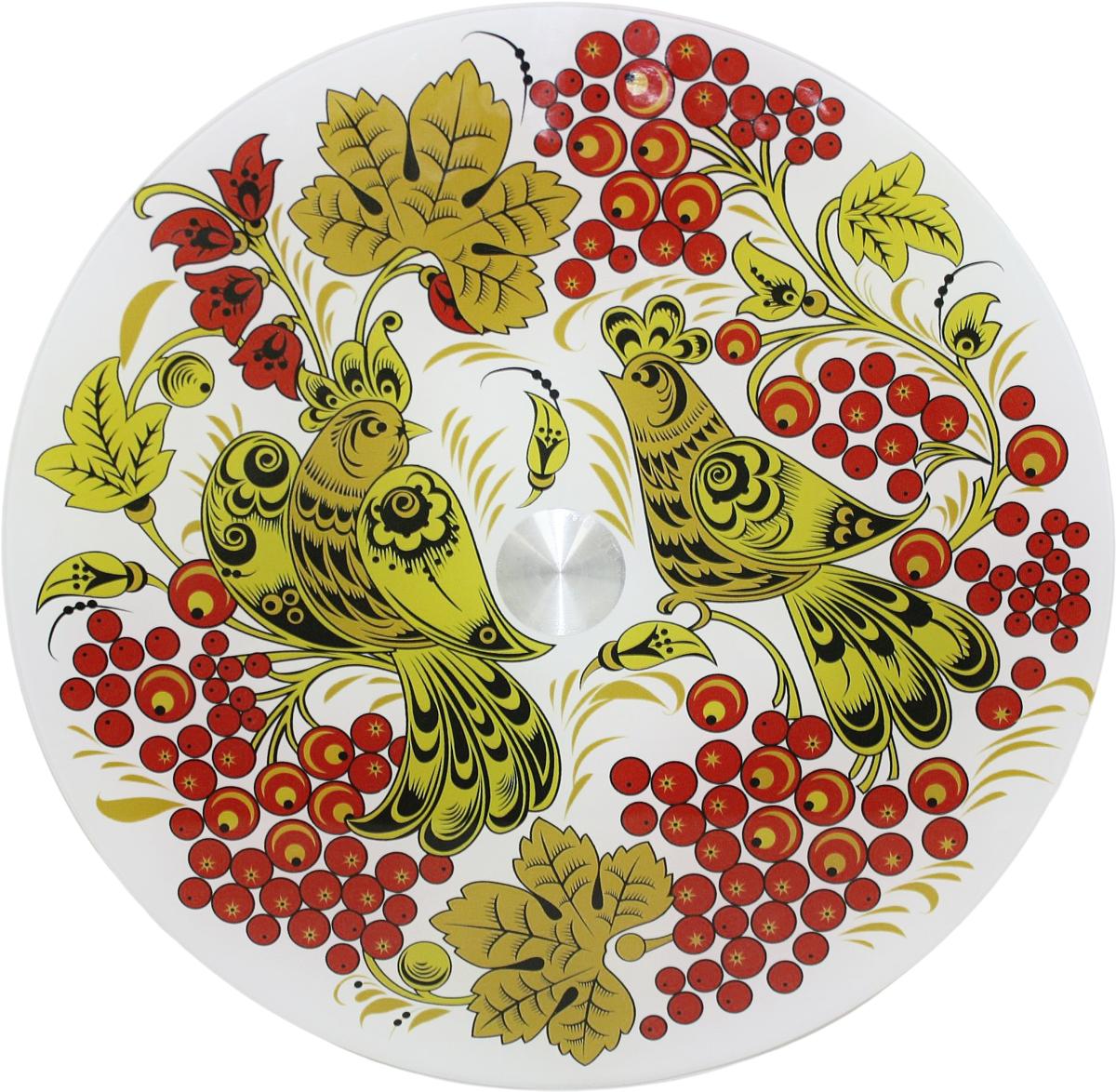 Блюдо Vellarti Птицы дивные, вращающееся, диаметр 30 см. 21700242170024Круглое блюдо Vellarti Птицы дивные выполнено из высококачественного стекла и дополнено красивымпринтом. Блюдо оснащено небольшой круглой подставкой и крутящимся механизмом.Изделие отлично подходит для сервировки закусок, нарезок, канапе, горячих блюд и многогодругого.Такое блюдо замечательно для торжественных случаев. Оно дополнит сервировкупраздничного стола и подчеркнет ваш прекрасный вкус. Диаметр блюда: 30 см.