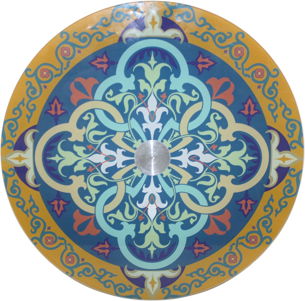 Блюдо Vellarti Калейдоскоп, вращающееся, диаметр 30 см. 21700252170025Вращающееся блюдо D 30см. Материал: стекло на вращающейся подставке в подарочной упаковке.