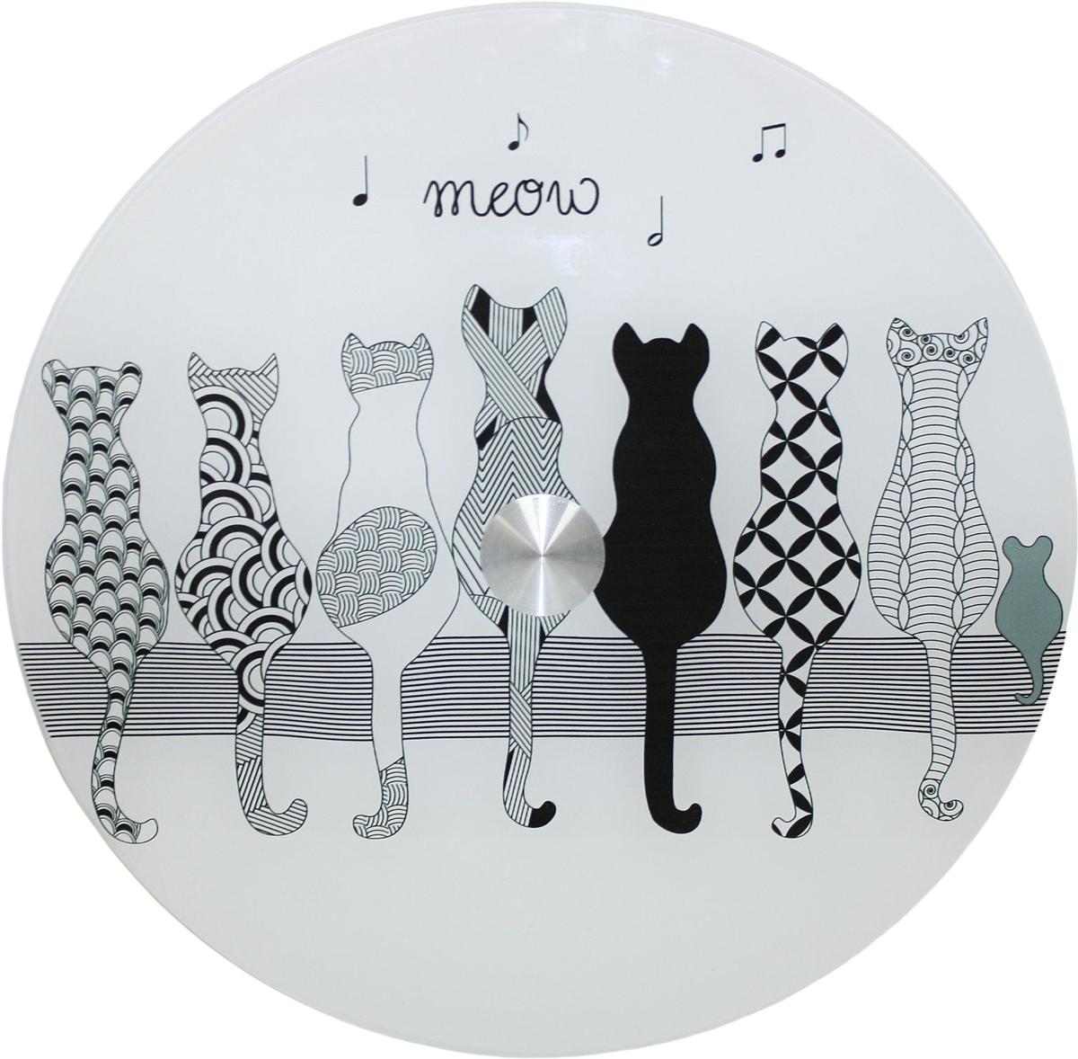 Блюдо Vellarti Мяу, вращающееся, диаметр 30 см. 21700262170026Вращающееся блюдо D 30см. Материал: стекло на вращающейся подставке в подарочной упаковке.