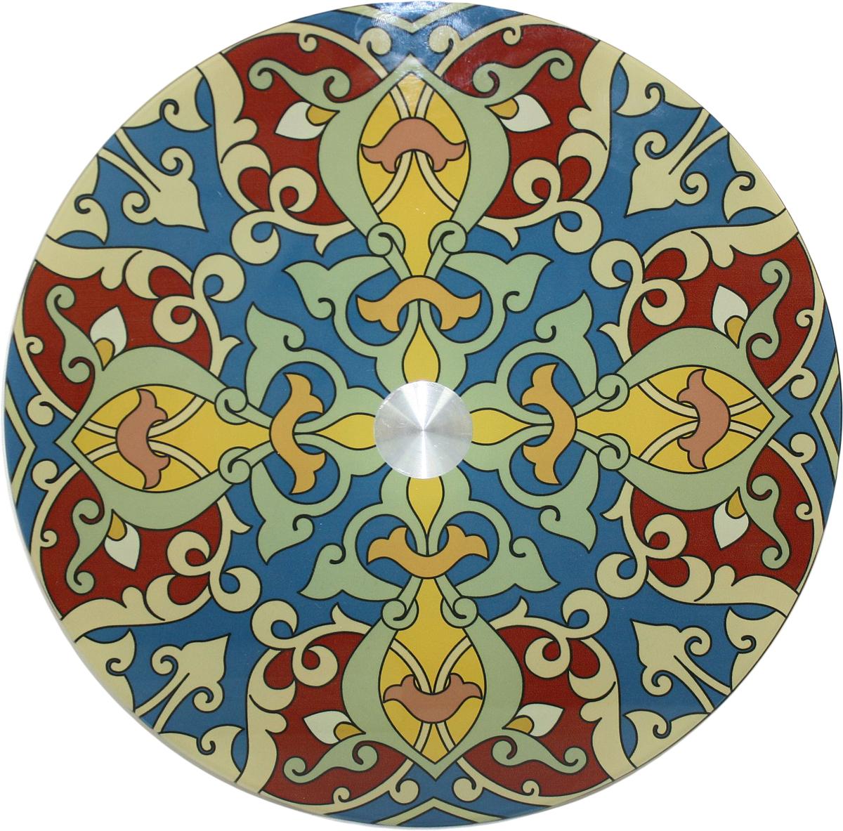 Блюдо Vellarti Восточный орнамент, вращающееся, диаметр 30 см. 21700302170030Круглое блюдо Vellarti Восточный орнамент выполнено из высококачественного стекла и дополнено красивымпринтом. Блюдо оснащено небольшой круглой подставкой и крутящимся механизмом.Изделие отлично подходит для сервировки закусок, нарезок, канапе, горячих блюд и многогодругого.Такое блюдо замечательно для торжественных случаев. Оно дополнит сервировкупраздничного стола и подчеркнет ваш прекрасный вкус. Диаметр блюда: 30 см.