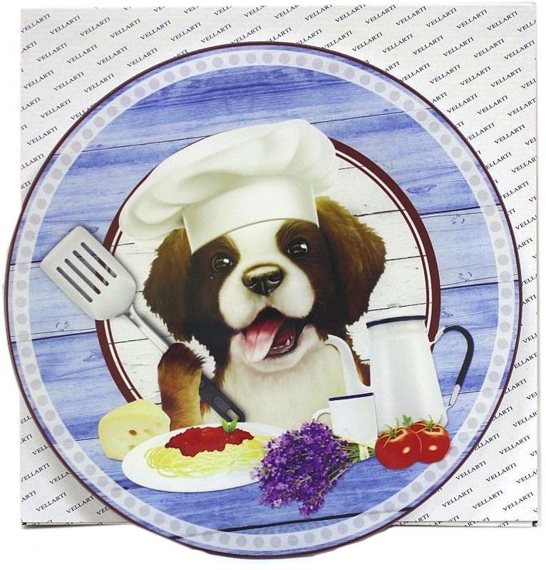 Блюдо Vellarti Повар, вращающееся, диаметр 30 см. 21700372170037Круглое блюдо Vellarti Повар выполнено из высококачественного стекла и дополнено красивымпринтом. Блюдо оснащено небольшой круглой подставкой и крутящимся механизмом.Изделие отлично подходит для сервировки закусок, нарезок, канапе, горячих блюд и многогодругого.Такое блюдо замечательно для торжественных случаев. Оно дополнит сервировкупраздничного стола и подчеркнет ваш прекрасный вкус. Диаметр блюда: 30 см.