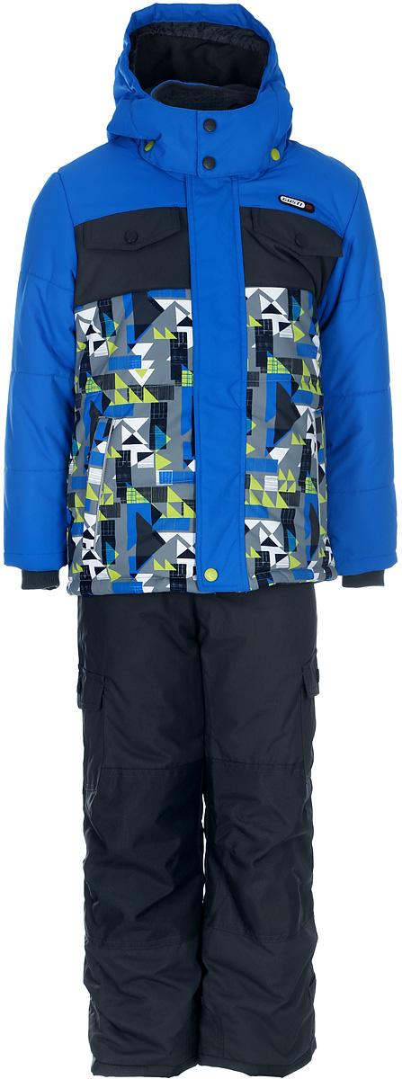 Комплект верхней одежды для мальчика Gusti, цвет: голубой, мультиколор. GWB 4639-ELECTRIC BLUE. Размер 112GWB 4639-ELECTRIC BLUEКомплект Gusti состоит из куртки и брюк. Ткань верха: мембрана с коэффициентом водонепроницаемости 5000 мм и коэффициентом паропроницаемости 5000 г/м2, одежда ветронепродуваемая. Благодаря тонкому полиуретановому напылению изнутри не промокает даже при сильной влаге, но при этом дышит (защита от влаги не препятствует циркуляции воздуха). Плотность ткани Т190 обеспечивает высокую износостойкость. Утеплитель: тек-Полифилл (Tech-Polyfil) - 280г/м2, силиконизированый полиэстер изготовленный по новейшим технологиям, удерживает тепло при температуре до -30 С. Очень мягкий, создающий объем для сохранения тепла. Высокоэффективный, обладающий повышенной устойчивостью к сжатию (после стирки в стиральной машине изделие достаточно встряхнуть), обеспечивающий хорошую вентиляцию, обладающий прекрасным, теплоизолирующими свойствами синтетический материал. Главные преимущества Тек-Полифила – одежда более пушистая на ощупь и менее тяжелое по весу. Подкладка: высокотехнологичный флис COOLQUICK. Специальное кручение нитей позволяет ткани максимально впитывать влагу и увеличивать испаряемость с поверхности, т.е. выпустить пар, но не пропускает влагу снаружи, что обеспечивает комфорт даже при высоких физических нагрузках. Этот материал ранее был разработан специально для спортсменов, которые испытывали сильные нагрузки во время активного движения, а теперь принес комфорт и тепло в нашу повседневную жизнь. Это особенно важно для детей, когда они гуляют на свежем воздухе, чтобы тело всегда оставалось сухим и теплым. В этой одежде им будет тепло в течение длительного времени и нет необходимости надевать теплый свитер. Верхняя одежда GUSTI просто чистится. Стирать одежду придется очень редко – только при сильных загрязнениях. Если малыш забрался в лужу или грязь, просто вытрите пятно влажной тряпкой.