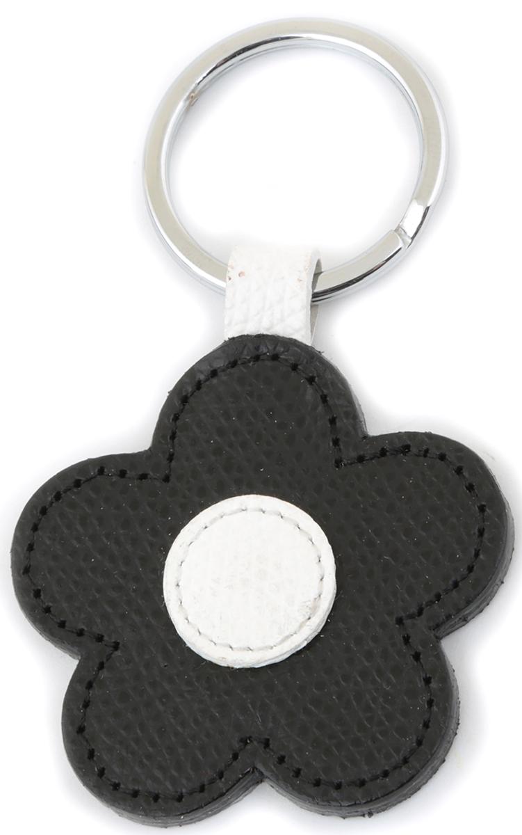 Брелок женский Petek 1855, цвет: черный. 1512.254.011512.254.01 BlackБрелок для ключей Petek 1855 выполнен из натуральной кожи. Изделие оснащено металлическим кольцом.Такой брелок станет стильным дополнением к ключам.