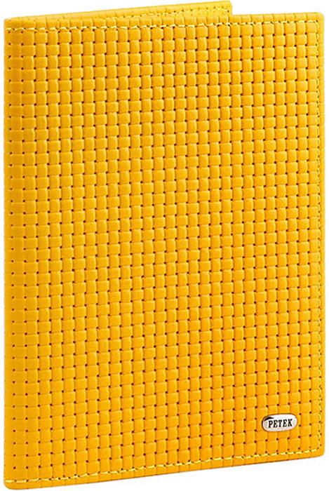 Обложка для паспорта женская Petek 1855, цвет: светло-желтый. 581.020.96 Daisy - Обложки для паспорта