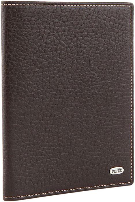 Обложка для паспорта женская Petek 1855, цвет: коричневый. 581.46D.KD2Натуральная кожаОбложка для паспорта. Снаружи металлическое лого Petek. Без металлических уголков. Обложка для паспорта поможет сохранить внешний вид ваших документов и защитить их от повреждений, а также станет стильным аксессуаром.Размер: 9,5 х 13,5 см.