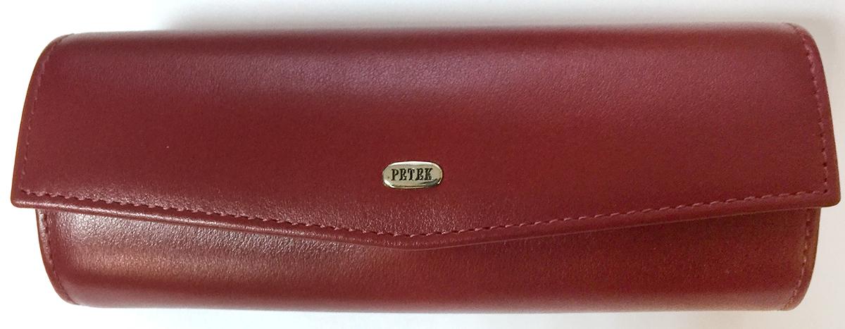 Футляр для очков женский Petek 1855, цвет: красный. 694S.209.10