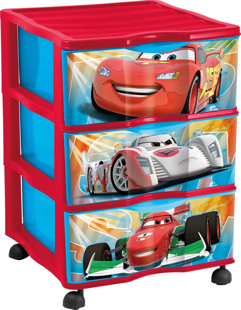 Disney Cars Комод на колесиках с 3 ящиками по 20 л