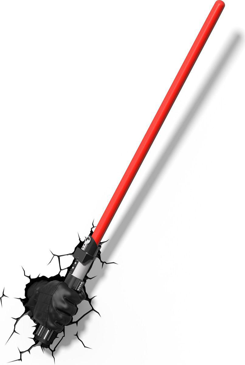 Star Wars Светильник-проектор 3D детский Меч Darth Vader50030;50030- Безопасный: без проводов, работает от батареек (3хАА, не входят в комплект);- Не нагревается: всегда можно дотронуться до изделия; - Реалистичный: 3D наклейка-имитация трещины в комплекте; - Фантастический: выглядит превосходно в любое время суток; - Удобный: простая установка (автоматическое выключение через полчасанепрерывной работы). Товар предназначен для детей старше 3 лет. ВНИМАНИЕ! Содержит мелкиедетали, использовать под непосредственным наблюдением взрослых.