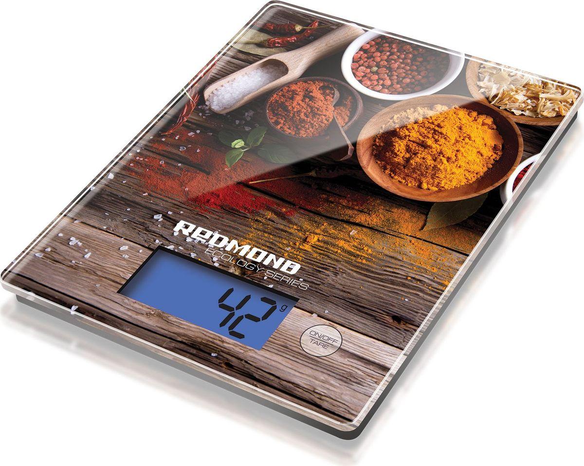 Redmond RS-736 Специи весы кухонныеRS-736 (специи)Кухонные весы Redmond RS-736 — новинка из экологичной серии с платформой из закалённого стекла, сенсорнойпанелью управления, ЖК-дисплеем с подсветкой и функцией автоотключения. Прибор можно хранить, повесим накрючок.Кухонные весы RS-736 с функцией вычета веса тары имеют четыре единицы измерения – грамм / жидкая унция /миллилитр / фунт. Диапазон измерения – от пяти граммов до восьми килограммов. Прибор дополнительнооснащён индикацией низкого уровня заряда и перегрузки.RS-736 легко и быстро определяют вес любого ингредиента блюда с точностью до 1 грамма. Эти стильныекухонные весы станут верным помощником приверженцев правильного питания, спортсменов и поклонниковздорового образа жизни.