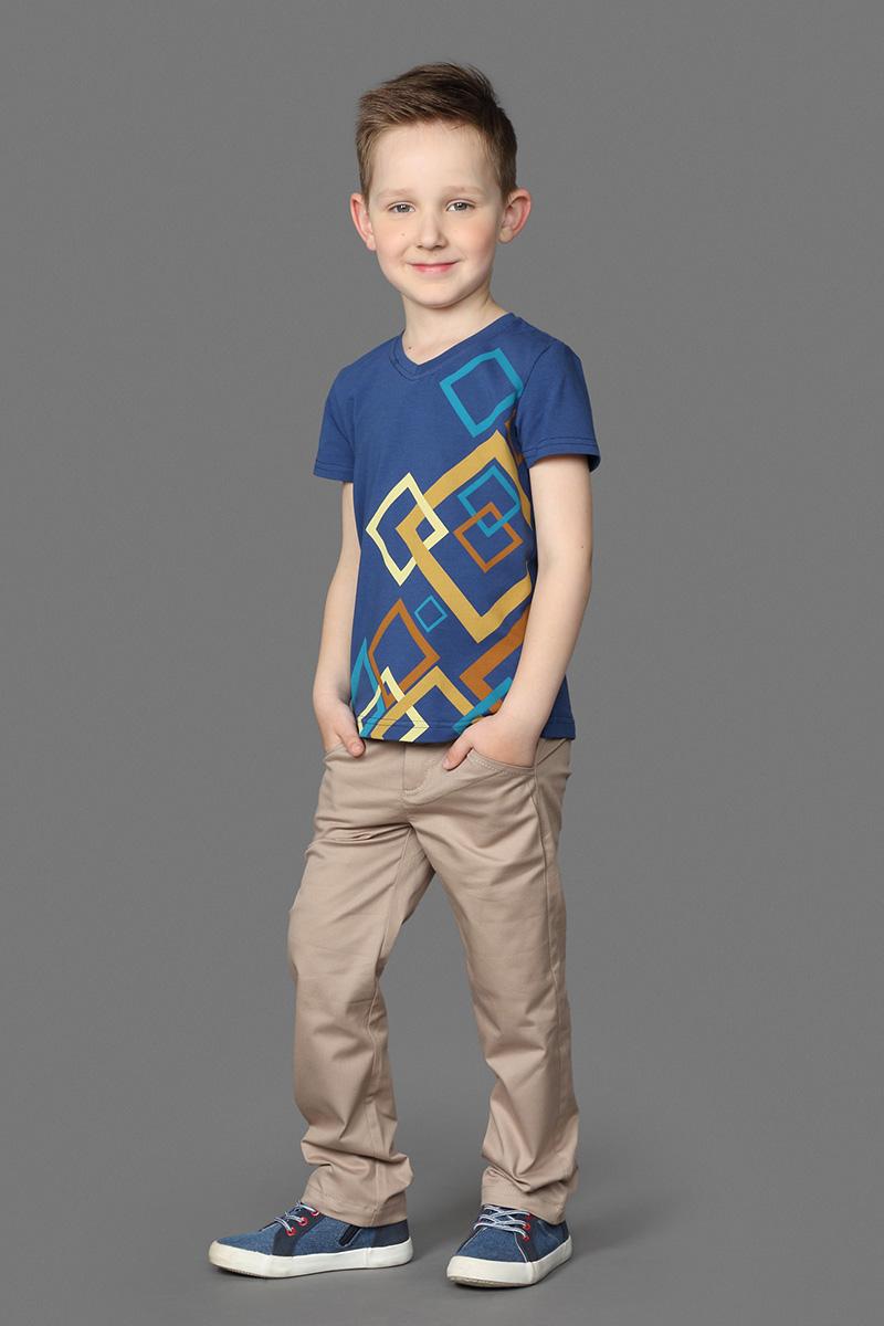 Брюки для мальчика Ёмаё, цвет: бежевый. 41-909. Размер 9241-909Отличные брюки из хлопковой ткани с застежкой на молнию и пуговицу. Имеют классический крой и отлично сочетаются с сорочками из этой же коллекции. Модель рассчитана на демисезонный период.
