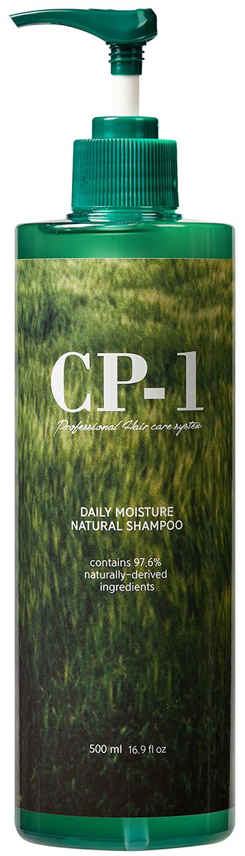 Esthetic House Увлажняющий шампунь для волос CP-1 Daily Moisture Natural Shampoo, 500 мл010421Шампунь состоит на 97,6% из природных компонентов, в том числе воды. Отлично увлажняет и питает волосы, придает им здоровый блеск и гладкость, подходит для всех типов волос, в том числе детских. Не содержит сульфатов, силикона и искусственных красителей. Антистрессовый шампунь №1 в Корее. Комплекс натуральных ингредиентов (в т.ч экстракт Центеллы Азиатской) обеспечивают мягкий уход, успокаивает кожу головы, раздраженную под воздействием внешних физических и химических факторов.