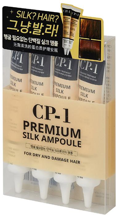 Esthetic House Сыворотка для волос с протеинами шелка/ набор из 4 туб CP-1 Premium Silk Ampoule010605Несмываемая сыворотка для волос с протеинами шелка/ набор из 4 туб рекомендована для сухих и поврежденных волос. Легкая несмываемая формула не дает эффекта липкости, а, напротив, дает ощущение свежести волосам. Сыворотка, обогащенная протеинами шелка, облегчает расчесывание, защищает волосы от термовоздействия, восстанавливает поврежденные волосы. Белки, эластин, коллаген, аминокислоты в составе превращают поврежденные волосы в блестящие, здоровые. Аргановое масло, кокосовое масло, масло сладкого миндаля, экстракт лебеды, и многие другие компоненты помогают сохранить влагу и предотвратить обезвоживание волос.