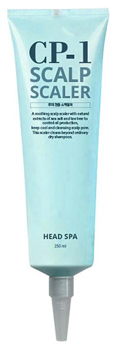 Esthetic House Средство для очищения кожи головы CP-1 Head Spa Scalp Scailer, 250 мл010933Спа-средство для глубокого очищения и освежения кожи головы. Замедляет старение кожи головы, предотвращает выпадение волос. Сбалансированно контролирует уровень кожного жира и влаги, что помогает бороться с сухостью кожи, перхотью. По назначению средство относят к маске-шампуню для кожи головы. По консистенции похоже на крем с частицами морской соли. Средство помогает профессионально ухаживать за кожей головы как в салоне, так и дома.