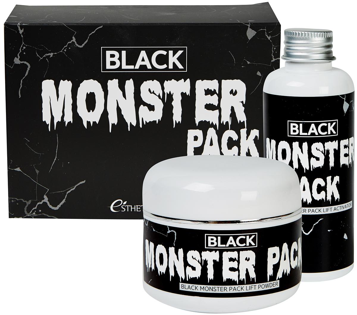 Esthetic House Набор для приготовления очищающей маски Black Monster Pack950306Маска BLACK MONSTER PACK предназначена для глубокого очищения кожи лица. Сужает поры, контролирует работу сальных желез, отбеливает и выравнивания тон кожи, а также обладает лифтинг-эффектом. ПОРОШОК: на основе древесного угля и дубовой золы способствует очищению кожи, нормализует работу сальных желез, альбумин в составе способствует сужение пор. АКТИВАТОР: океаническая вода и гиалуроновая кислота способствуют глубокому увлажнению кожи, делают ее более эластичной, комплекс из 24 природных экстрактов укрепляет защитный барьер кожи. Аденозина и ниацинамид в составе помогают подтянуть и осветлить кожу. Содержимое набора: порошок 50 г, активатор 150 мл, кисть, миска, мерная ложка.