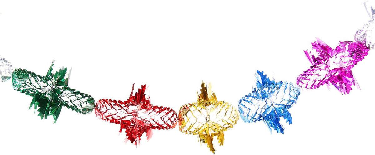 Растяжка Елочка, длина 4 м702488Невозможно представить нашу жизнь без праздников! Мы всегда ждем их и предвкушаем, обдумываем, как проведем памятный день, тщательно выбираем подарки и аксессуары, ведь именно они создают и поддерживают торжественный настрой. Новогодние аксессуары — это отличный выбор, который привнесет атмосферу праздника в ваш дом!