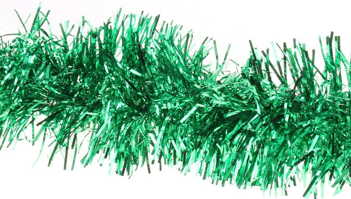 Мишура новогодняя Sima-land, цвет: зеленый, диаметр 9 см, длина 2 м. 702622702622Мишура новогодняя Sima-land, выполненная из фольги, поможет вам украсить свой дом к предстоящим праздникам. Мишура армирована, то есть имеет проволоку внутри и способна сохранять приданную ей форму. Новогодняя елка с таким украшением станет еще наряднее. Новогодней мишурой можно украсить все, что угодно - елку, квартиру, дачу, офис - как внутри, так и снаружи. Можно сложить новогодние поздравления, буквы и цифры, мишурой можно украсить и дополнить гирлянды, можно выделить дверные колонны, оплести дверные проемы.