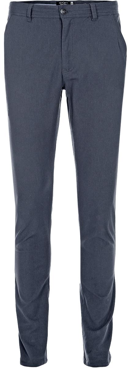 Брюки мужские Sela, цвет: темно-серый меланж. P-215/124-7423. Размер 50P-215/124-7423Стильные мужские брюки-слим от Sela выполнены из хлопкового материала. Модель зауженного кроя в поясе застегивается на пуговицу и ширинку на молнии, имеются шлевки для ремня. Спереди брюки дополнены втачными карманами, сзади – накладными карманами.