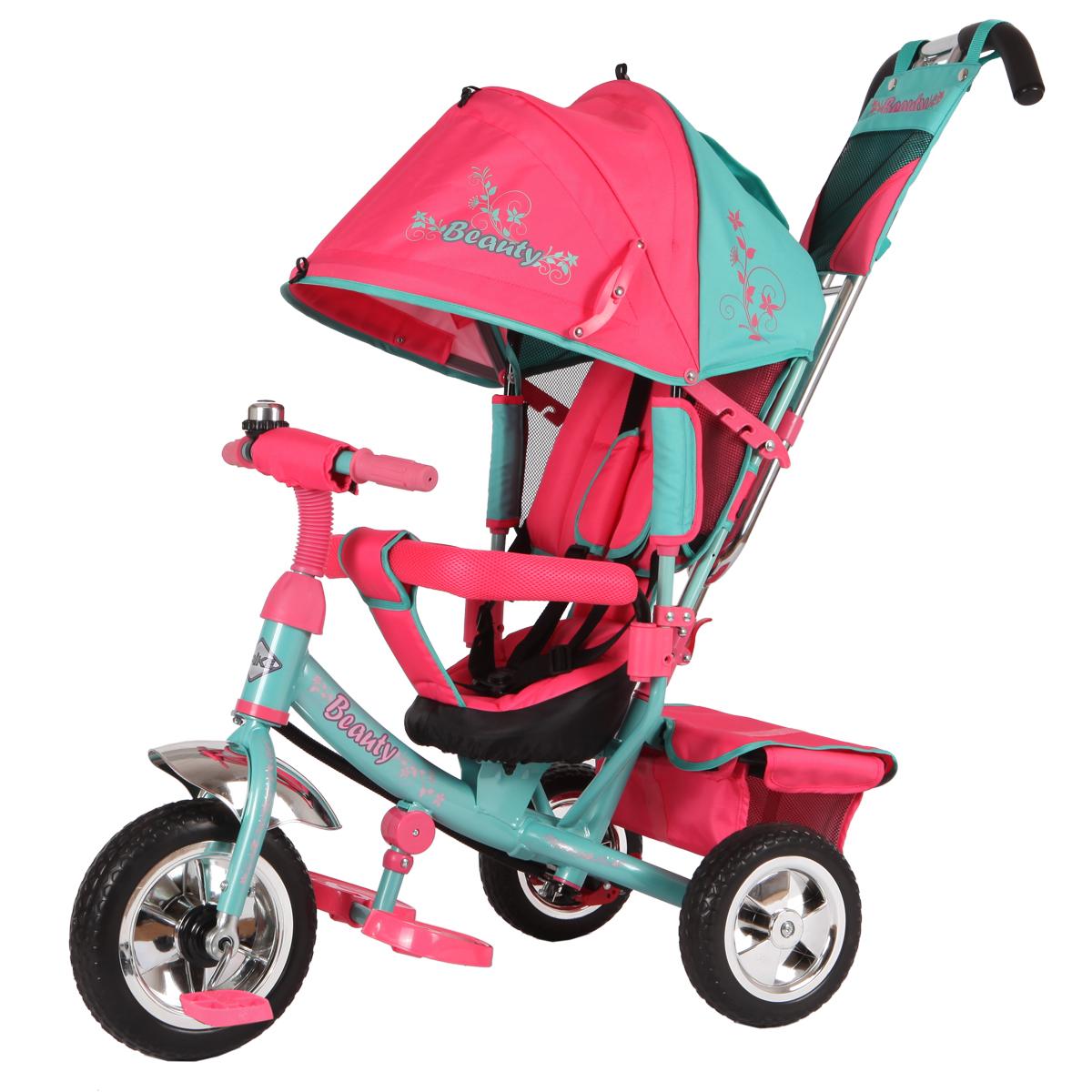 Beauty Велосипед трехколесный цвет мятный розовый B2MP рюкзак beauty 2