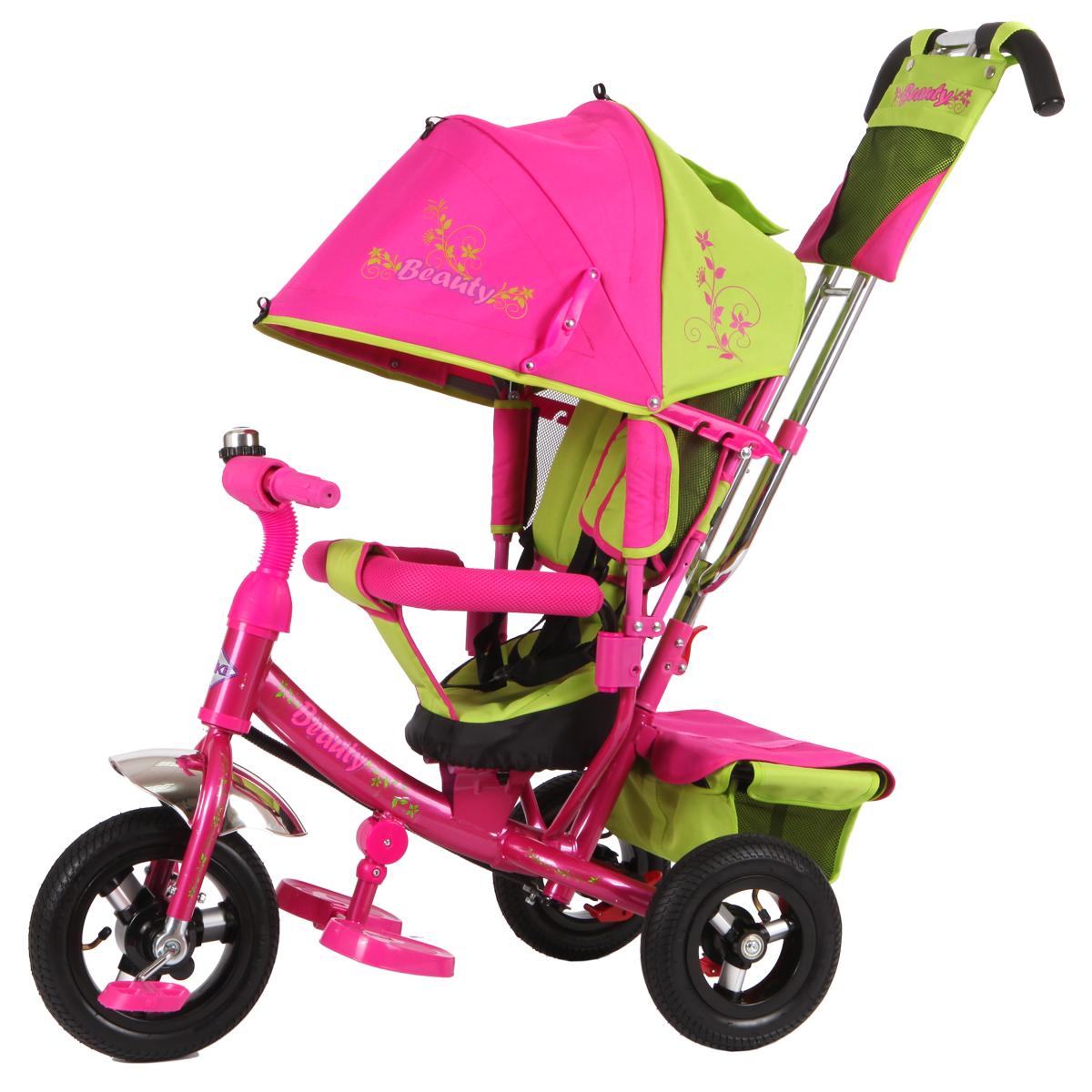 Beauty Велосипед трехколесный цвет зеленый розовый BA2GP - Велосипеды-каталки