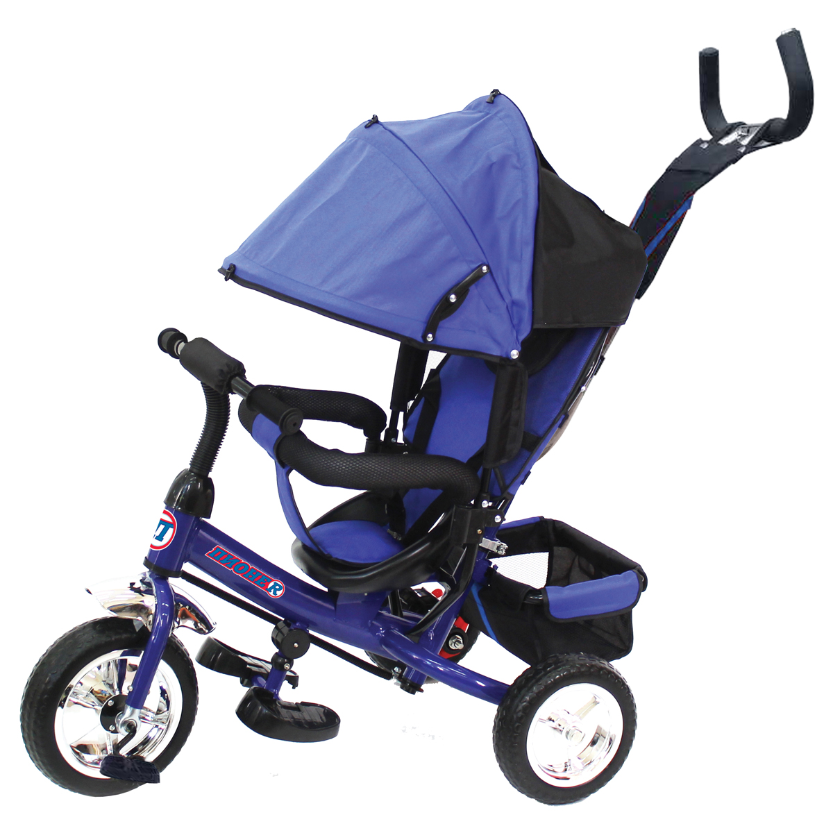 ПИОНЕR Велосипед трехколесный цвет синий P1B - Велосипеды-каталки