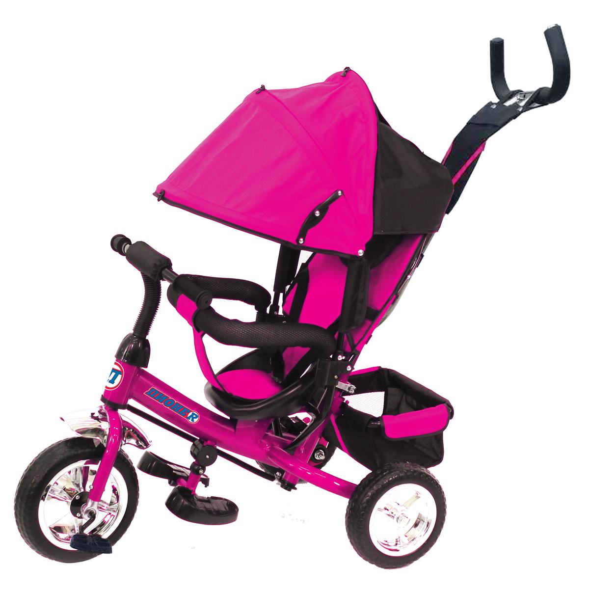ПИОНЕR Велосипед трехколесный цвет розовый P1P - Велосипеды-каталки