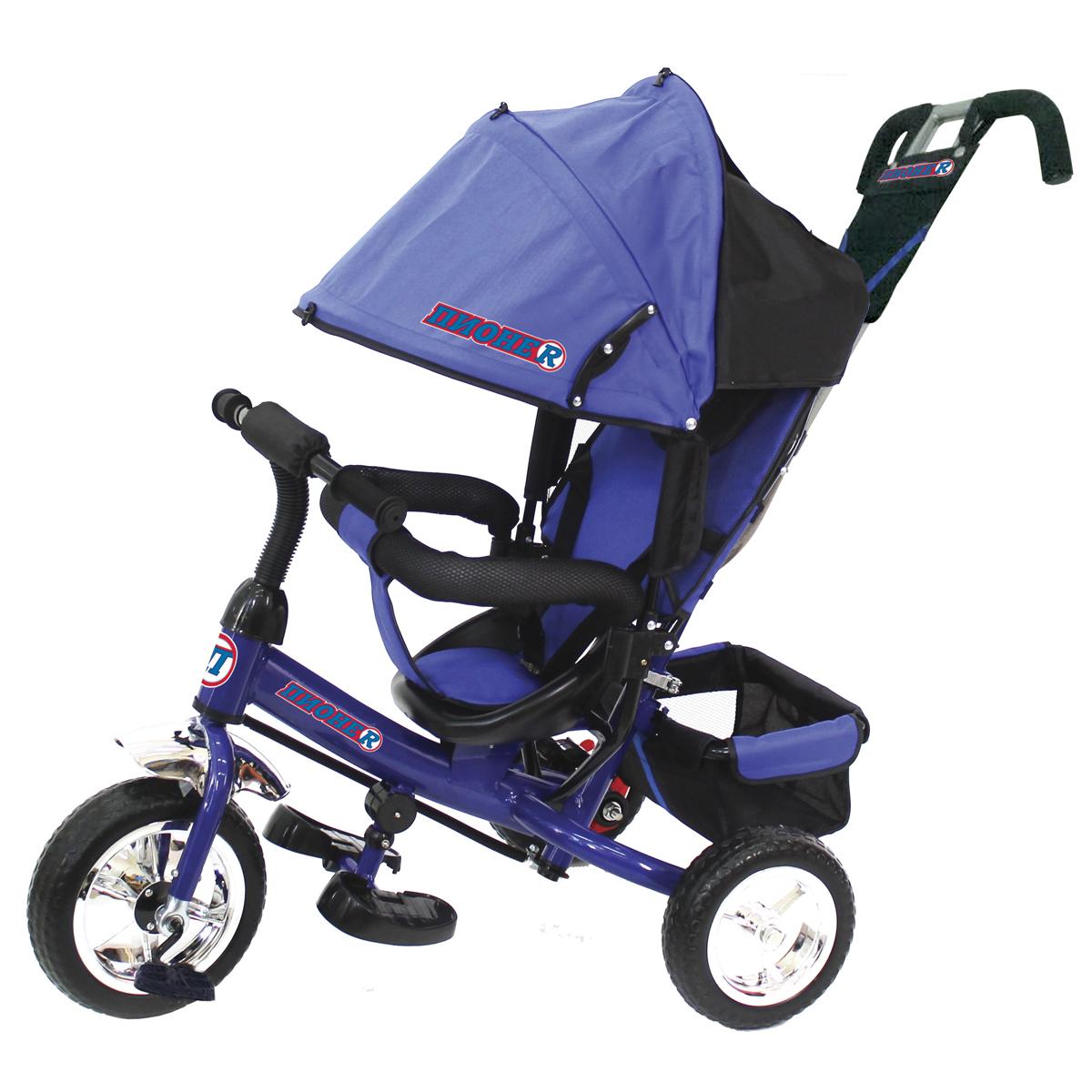 ПИОНЕR Велосипед трехколесный цвет синий P4B - Велосипеды-каталки