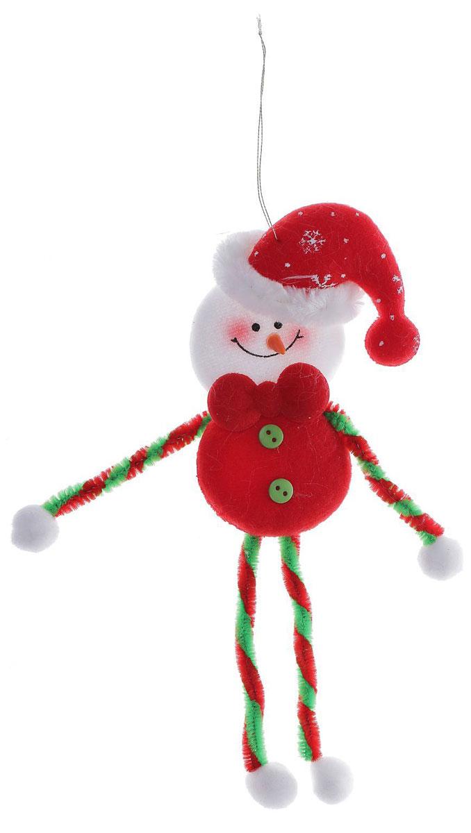 Новогоднее подвесное украшение Снеговик с цветными тонкими ножками1102755Новогоднее украшение ручной работы отлично подойдет для декорации вашего дома и новогодней ели. С помощью специальной петельки украшение можно повесить в любом понравившемся вам месте. Но, конечно, удачнее всего оно будет смотреться на праздничной елке.Елочная игрушка - символ Нового года. Она несет в себе волшебство и красоту праздника. Такое украшение создаст в вашем доме атмосферу праздника, веселья и радости.