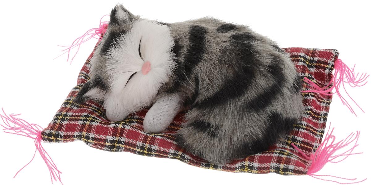 Vebtoy Фигурка Котенок на коврике цвет серый