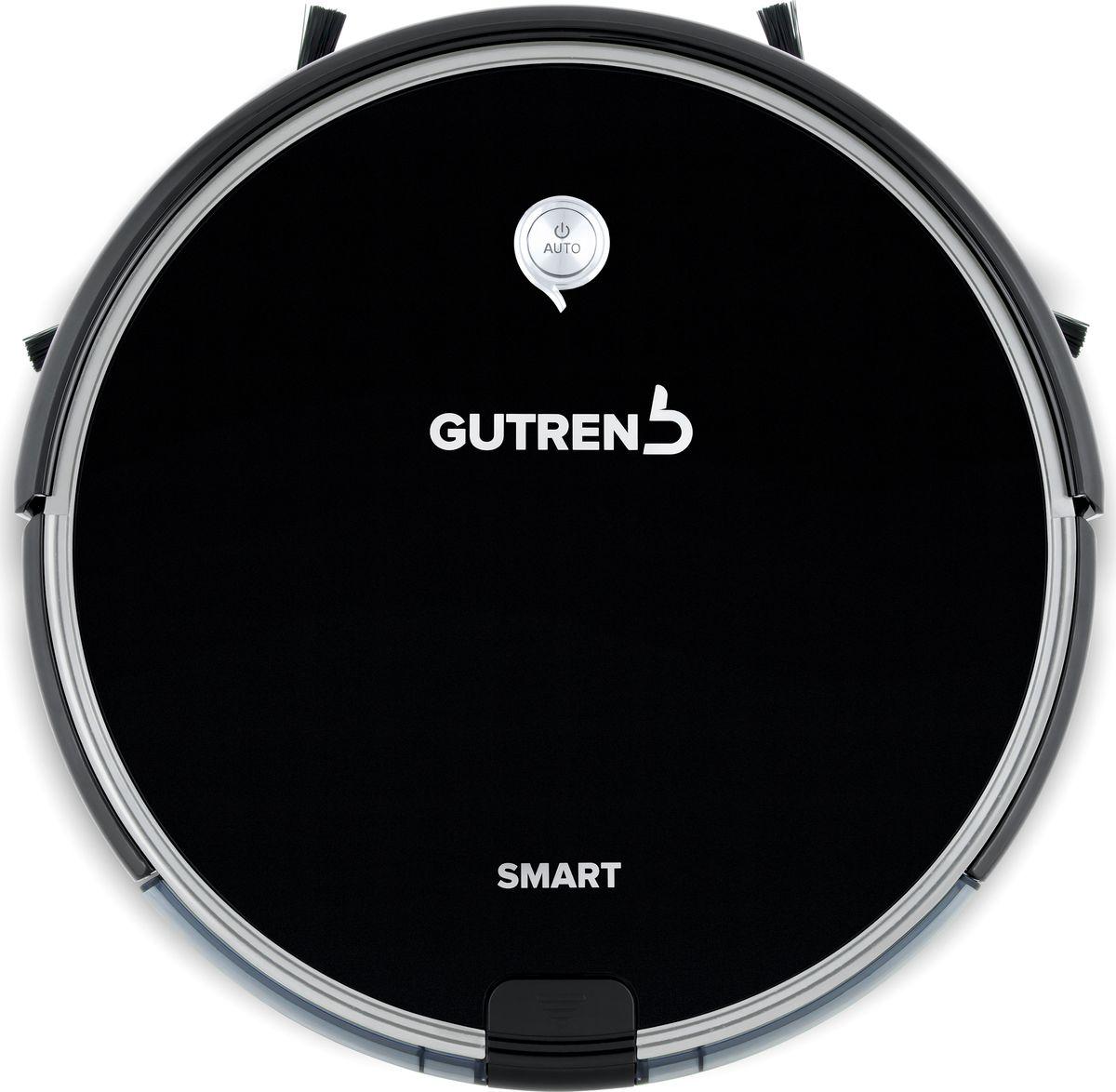 Gutrend Smart 300, Black робот-пылесосG300BРобот-пылесос GUTREND SMART 300 – это интеллектуальный подход к ежедневной уборке. Под элегантным корпусом кроются технологии, которые могут переписать Ваш опыт в наведении порядка. Новый GUTREND SMART 300 предназначен как для сухой, так и для влажной уборки всех типов напольных покрытий. Наилучшим образом все его возможности раскроются на большой площади уборки за счет аккумулятора высокой емкости. Благодаря технологии OPTIMAL ROUTE робот-пылесос SMART 300 обеспечивает последовательную уборку помещения, сокращая тем самым необходимое для качественной уборки время. Усовершенствованная технология влажной уборки с автоматической подачей воды получила название SMART DRIP 2.0. В этой версии за четкое дозирование жидкости во время уборки отвечает надежная электронная система, которая гарантированно прекращает подачу воды во время остановки пылесоса.Как выбрать робот-пылесос. Статья OZON Гид