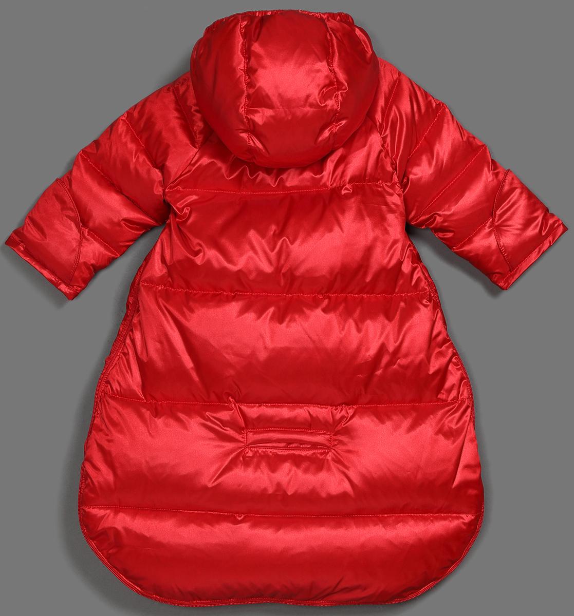 Спальный мешок для новорожденных Ёмаё, цвет: красный. 68-117. Размер 5668-117Конверт для новорожденного на натуральном пуху – 85% и перо 15% (плотность набивки - 220 гр/м кв) из тонкой лёгкой курточной ткани (пропитка только WR). Изделие предусматривает перевозку ребёнка в автомобильном кресле (есть отверстия для ремня). По лицевому срезу капюшона – резинка. Ручки ребёнка можно закрыть рукавичкой, притачанной к низку рукава. Горлышко дополнительно закрывает внутренний подборт, ширина горловины регулируется с помощью контактной ленты Спереди имеется оригинальная вышивка. Температурный режим до минус 25-30 градусов.