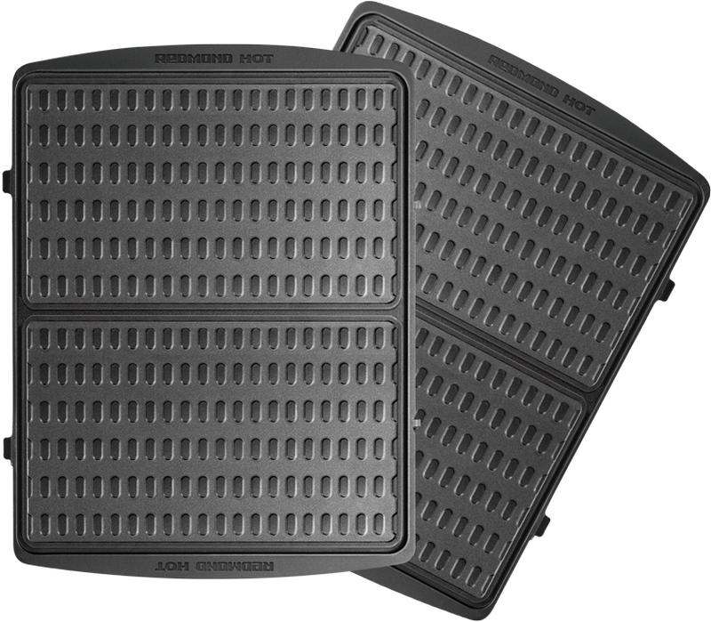 Redmond RAMB-119, Black панель для мультипекаряRAMB-119Универсальные съемные панели RAMB-119 для мультипекаря Redmond серии Pro! Панели предназначены для приготовления вафельных трубочек со сгущенкой, шоколадной пастой, джемом, взбитыми сливками или любой другой начинкой на ваш вкус. Выпеченные на этих панелях тонкие вафли также можно использовать в качестве коржей для домашних вафельных тортов.Швейцарское керамическое антипригарное покрытие ILAG Ceralon позволяет готовить на панелях без масла или добавляя его совсем немного. Ваши блюда отлично пропекутся и поджарятся, и при этом получатся более диетическими!Панели изготовлены из металла – они долговечны и легки в уходе. Остывшие панели после использования достаточно вымыть под проточной водой с использованием обычных неабразивных моющих средств.