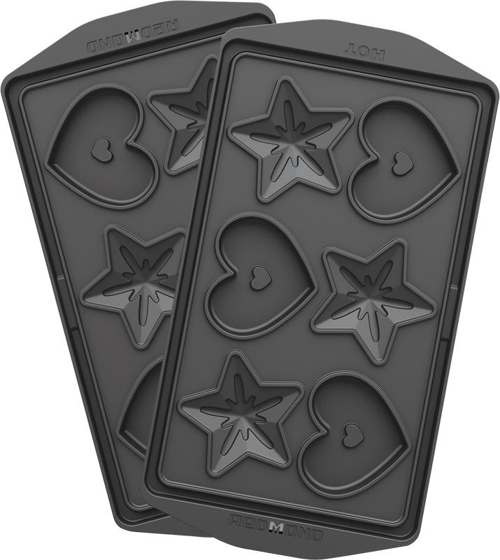 Redmond RAMB-24, Black панель для мультипекаряRAMB-24Универсальные съемные панели RAMB-24 для любого мультипекаря Redmond серии 6! Позволят вам приготовить натуральную выпечку без консервантов в форме звезд и сердец, чтобы потом расписать ее глазурью или украсить любым другим способом по вашему вкусу. Панели изготовлены из металла с антипригарным покрытием – они долговечны и легки в уходе, а готовить на них можно без масла!Удобные ручки позволят вам с удобством снимать панели с корпуса мультипекаря.