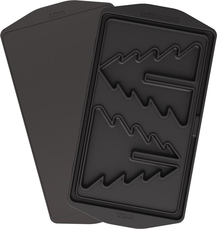 Redmond RAMB-27, Black панель для мультипекаряRAMB-27Универсальные съемные панели RAMB-27 для любого мультипекаря REDMOND серии 6! Позволят вам приготовить оригинальный праздничный или повседневный десерт в виде настоящей объемной елочки. Соберите готовую елку на столе, украсьте ее сливочным «снегом», фисташковым кремом или гирляндами из шоколадного топпинга и наслаждайтесь с детьми нежным вкусом натуральных домашних сладостей без синтетических красителей и консервантов. Панели изготовлены из металла с антипригарным покрытием – они долговечны и легки в уходе, а готовить на них можно без масла! Удобные ручки позволят вам с удобством снимать панели с корпуса мультипекаря.